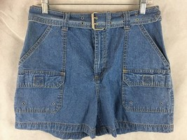 "Sonoma Belted Denim Jean Shorts Womens Size 10 New Waist 34"" - $16.78"