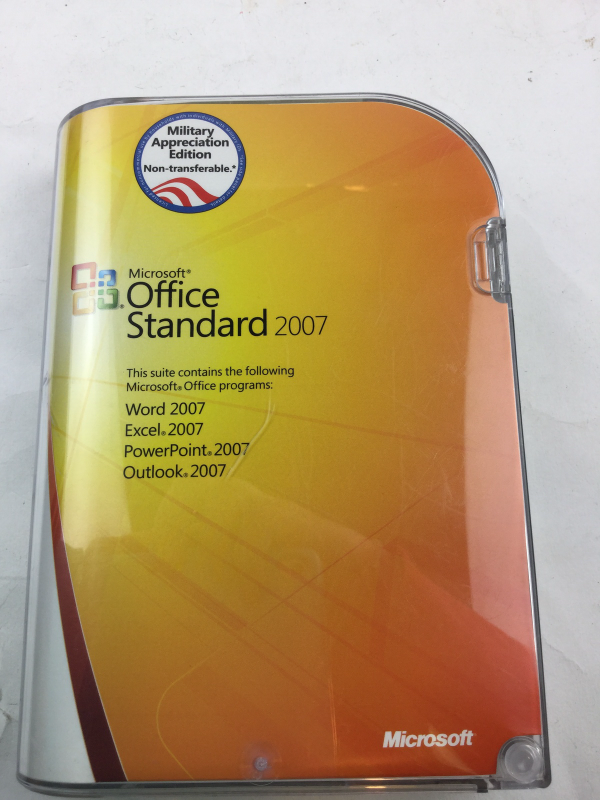 microsoft office standard 2007 military and 19 similar items