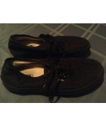Boys Size 3.5 Vans shoes all black tennis Off The Wall sports athletic - $15.75
