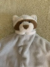 Angel Dear Gray White Brown Raccoon Fleece Lovey Security Blanket Toy - $13.08