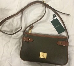 Lauren Ralph Lauren Sandland Crossbody Leather Bag NWT $128 - $78.21