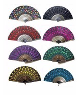 Hand Held Fan Folding Church Wedding Party Spanish Asian Vintage Retro C... - $9.99