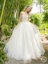 Womens Wedding Dress Tulle Silver Size 14 Ivory by Moonlight Bridal Gown... - $326.32