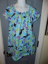 Hanna Andersson Blue W/ Water Drop Print Dress Size 110 (5-6) Girl's EUC - $18.72