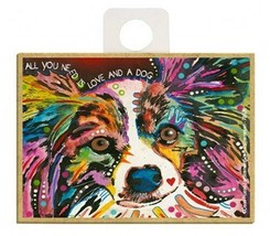 All You Need Is Love And A Dog Papillon Pop Art NEW Fridge Magnet  2.5x3... - $5.86