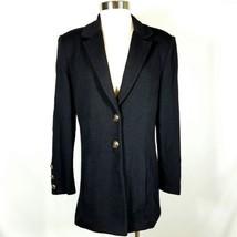 ST. JOHN Basics Jacket Santana Knit 2 button Long Sweater Cardigan - $94.99