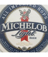Michelob Light Beer Coasters 2 Round Man Cave Brewing   - $6.75