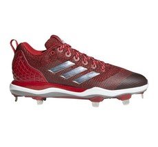 Adidas Power Alley 5 Metal Baseball Cleats Red/Silver/White Mens 13.5 B3... - $14.95