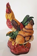 Handcrafted Barnyard Rooster/Hen Free Range Collection Brand New  - $29.00