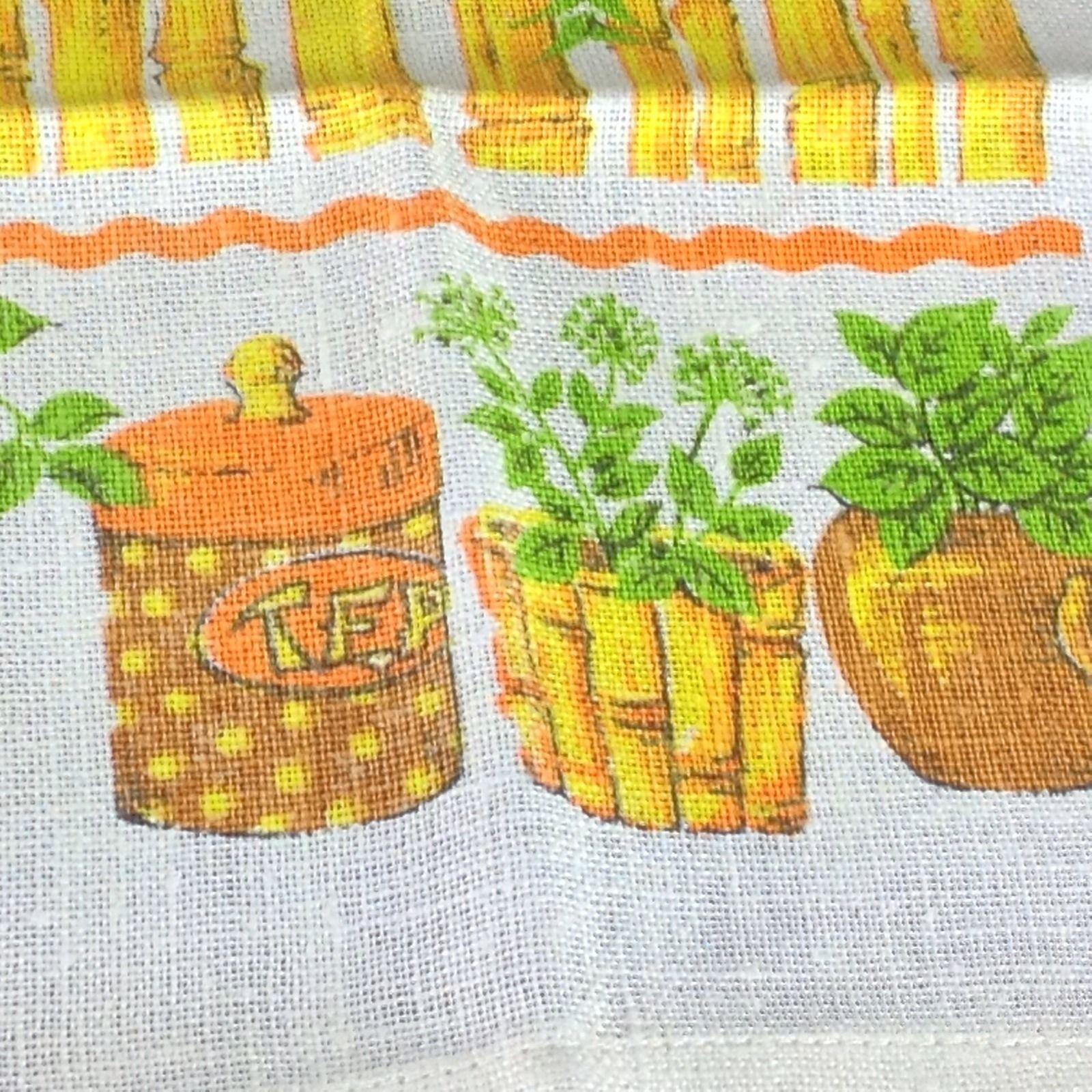 1975 Malandrino Linen Dish Towel Bamboo Exotic Spice Tiki Room Mint Ginger Chive