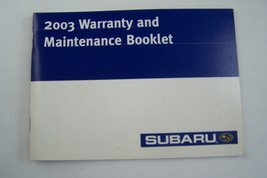 2003 subaru forester legacy impreza wrx owners maintenance schedule warranty  - $29.99