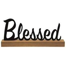 CWI Gifts Standing Metal Word Blessed,Home (Blessed) - $23.52