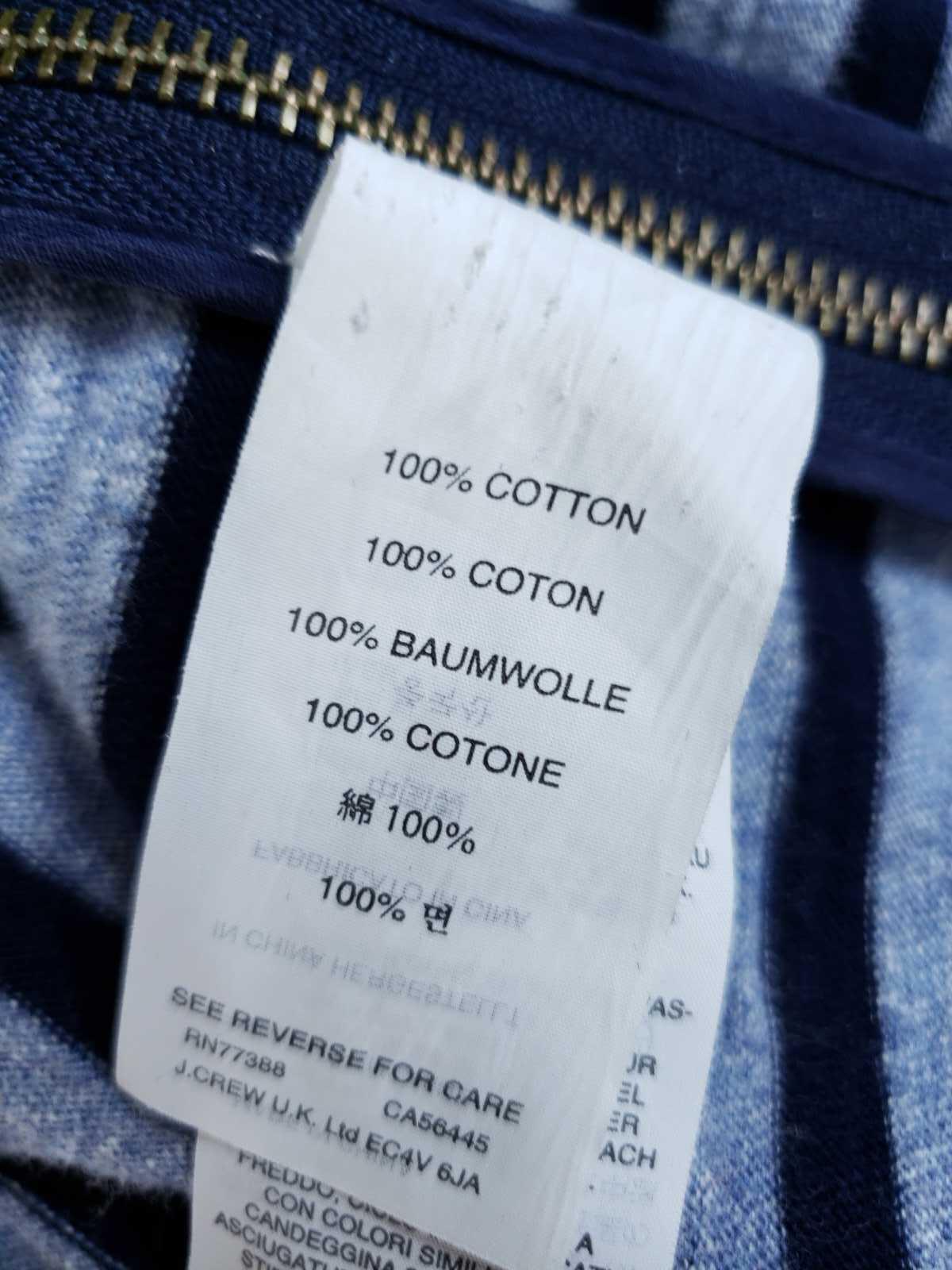 J.Crew Women XS Dress Striped Side Zip Tshirt Cotton Long Sleeve Casual image 6