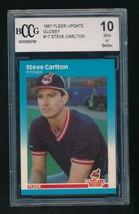 1987 Fleer Update Glossy #U-17 Steve Carlton Cleveland Indians BCCG 10 - $5.00