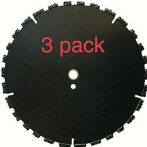 """3pk 12"""" Fire Rescue Root Cutter Carbide tipped Demolition Blade x .250  - $546.48"""