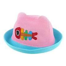 Straw Hat Summer Sun Hat Baby Boys And Girls Summer Hat Visor Baby Hat