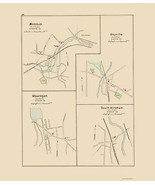 Moosup Dayville Wauregan Windham Connecticut - Hurd 1893 - 23.00 x 26.44 - $36.58+