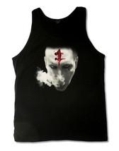 Marilyn Manson-Bloody Mark Smoking Face-X-Large Black Tanktop T-shirt - $18.28
