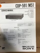 Sony CDP-591 / M51 Service Manual *Original* - $8.60