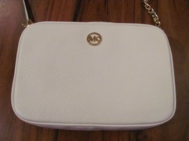 MICHAEL KORS Cross Body Bag Authentic NWT White MK Logo Retails for $168 - $116.86