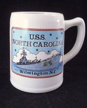 USS North Carolina Battleship Memorial Military Battle Zones Stein Mug T... - $8.86