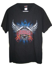 HARLEY DAVIDSON Lake Wales Florida Black Engine Cotton T Shirt Mens M Me... - $14.84