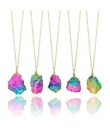 Rainbow Natural Stone Necklace - £15.97 GBP