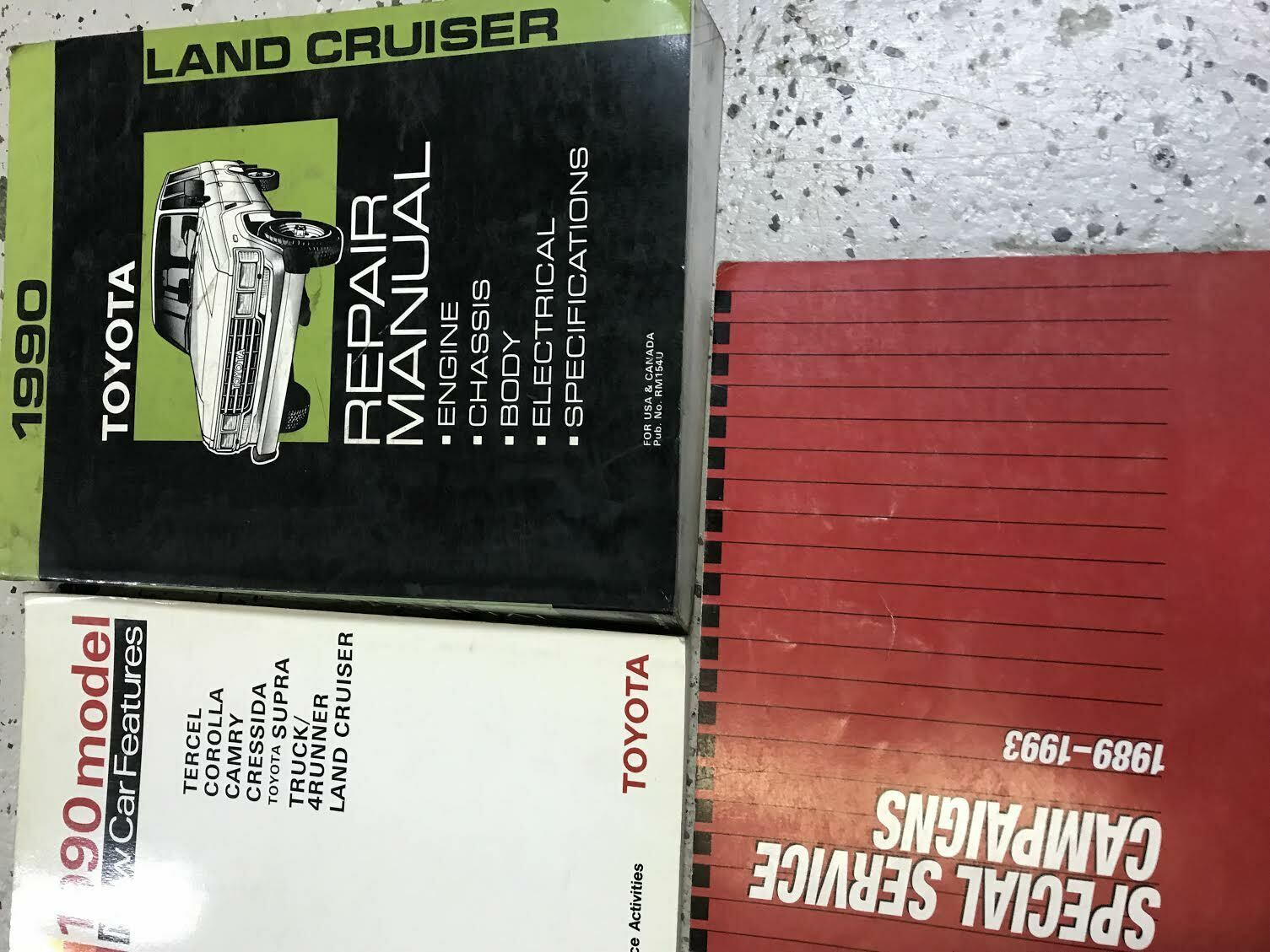 Primary image for 1990 TOYOTA LAND CRUISER Service Shop Repair Workshop Manual OEM Set