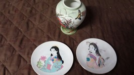 Japenese vase and plates - $4.50