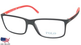 New Polo Ralph Lauren Ph 2126 5504 Matte Black Eyeglasses Frame 55-16-145 B37mm - $98.98