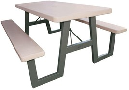 Picnic Table Foldable 57 in. x 72 in. W-Frame Stain Resistant All-Weathe... - $304.75