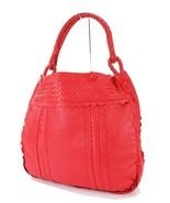 Auth BOTTEGA VENETA Red Woven and Perforated Leather Tote Handbag Purse ... - $305.10