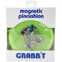 Grabbit Magnetic Pincushion W/50 Pins-Lime - $20.64