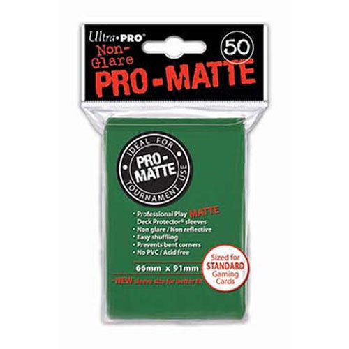 50 Ultra Pro Pro-Matte Green Deck Protector Card Sleeves Pokemon MTG ULP82652