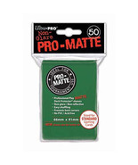 50 Ultra Pro Pro-Matte Green Deck Protector Card Sleeves Pokemon MTG ULP... - $5.99
