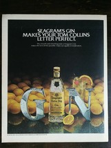 Vintage 1981 Seagram's Extra Dry Gin Full Page Original Color Ad -721b - $6.64