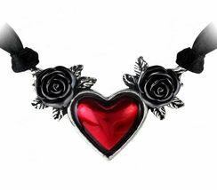 Alchemy Of England Gótico Sangre Corazón Roses Love Punk Goth Collar Cinta P746 image 3