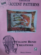 """Quilting Pattern """"Fishon"""" Pillow, or other small quilted items 15""""x 18"""" ... - $4.99"""