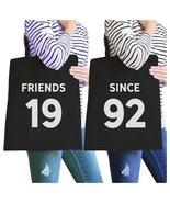 Friends Since Custom Years BFF Matching Black Canvas Bags - $30.99