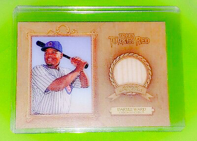 Primary image for MLB DARRELL WARD CHICAGO CUBS 2007 TOPPS TURKEY RED GAME USED BAT RELIC MINT