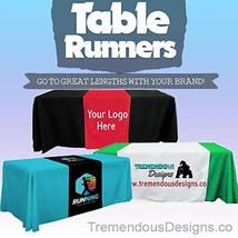 Customize Table Runner Cloth Using Your Text and Log 3'x6' advertise your busine image 1
