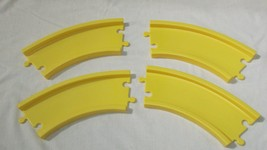 Little Tikes interstate expressway road roadway lot 4 curved yellow tracks - $10.39