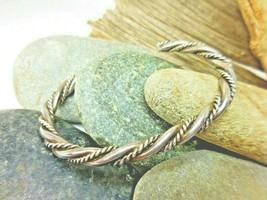"""Vintage Double Twist Sterling Silver Cuff Bracelet 20.1 grams 6.5"""" - $26.55"""