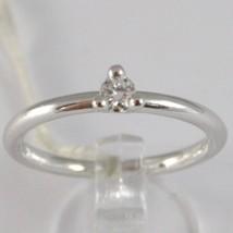 White Gold Ring 750 18K, Solitaire, Shank round, Diamond CT 0.12 image 1