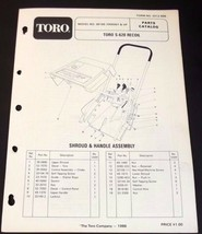 Toro S 620 Recoil Snow Thrower Parts Catalog Manual 38165 Serial 7000001... - $11.99