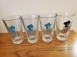 FOUR HOOK'S GRILL & GROG GLASSES PANAMA CITY BEACH FLORIDA RARE COLLECTIBLE - $19.99