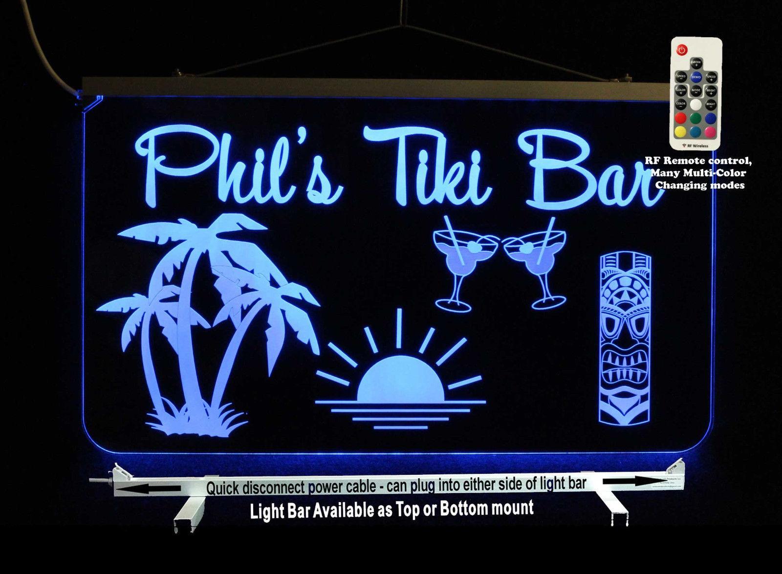 Custom Man Cave Sign, Tiki Bar, Palm trees