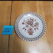 Johnson Brother Jamestown Brown Bread Plate (1) Brown Flowers in Urn - $5.20