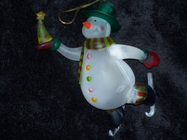 "2005 Avon Lighted Snowman Hanging Ornament All Colors Work 6"" New in Box - $6.95"
