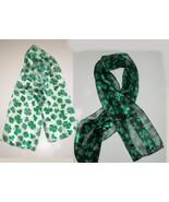 "Shamrock scarfs Lot of 2 1-Black 1-White 9""x58"" St.Patrick's Day New - $18.00"